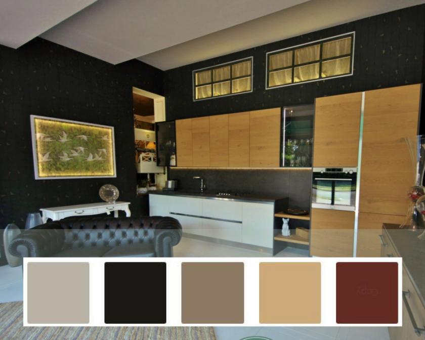 pareti cucine colori e palette dallo stile industriale e contemporeo