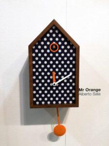 Mr. Orange di Progetti - orologio da parete